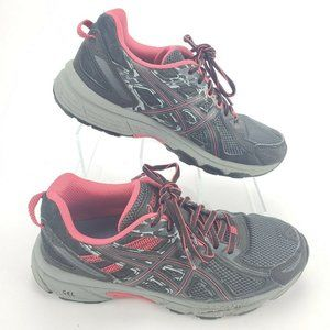 ASICS Gel-Venture 6 Gray/Hot Pink Running Shoes